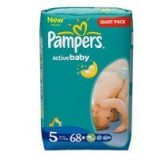Sauskelnės PAMPERS Active Baby, Junior, Nr.5, 11-18kg, GP, 68vnt.