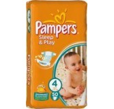 Sauskelnės PAMPERS Sleep&Play Value Pack Maxi, 7-18 kg, 50 vnt.