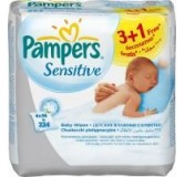 Servetėlės PAMPERS Baby Wipes Sensitive, 224 vnt.