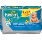 Servetėlės PAMPERS Baby Fresh, 2x64 vnt.