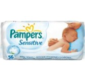 Servetėlės PAMPERS Baby Wipes Sensitive, 56 vnt.