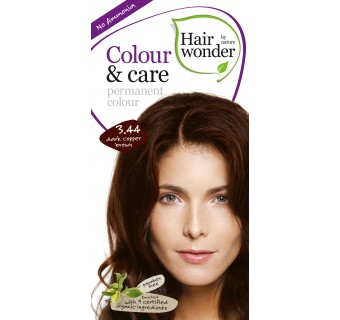 Hairwonder Colour & Care ilgalaikiai plaukų dažai be amoniako (Dark copper brown)
