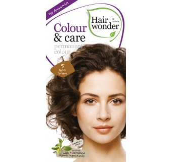 Hairwonder Colour & Care ilgalaikiai plaukų dažai be amoniako (Light brown)