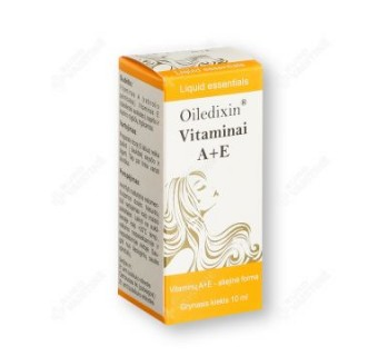 Oiledixin Vitaminai A+E, 10 ml